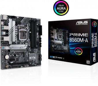 ASUS PRIME B560M-A, DDR4, SATA3, USB3.2Gen2, DP, LGA1200 mATX