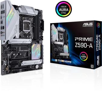 ASUS PRIME Z590-A, DDR4, SATA3, USB3.2Gen2x2, DP, 2.5Gb LAN, LGA1200 ATX