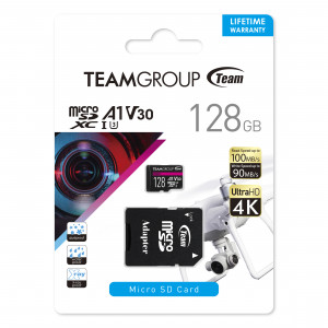 Teamgroup PRO V30 128GB MicroSDXC UHS-I U3 100MB/s spominska kartica