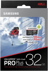 Samsung 32GB PRO+ MICRO SDHC class10 U3 4K UltraHD 100MB/s SPOMINSKA KARTICA+ SD ADAPTER