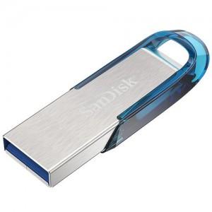 Sandisk Ultra Flair 64GB USB3.0 spominski ključek- moder