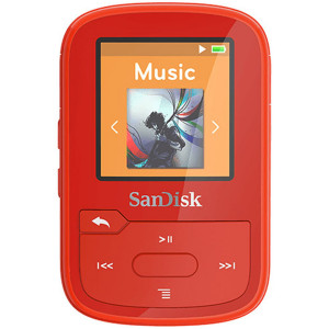SanDisk Clip Sport Plus MP3 player 16gb rdeča barva