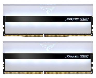 Teamgroup XTREEM ARGB WHITE 16GB Kit (2x8GB) DDR4-3600 DIMM PC4-28800 CL14, 1.45V