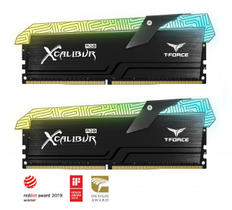 Teamgroup XCALIBUR 16GB Kit (2x8GB) DDR4-4000 DIMM PC4-32000 CL18, 1.35V - Tatoo edition