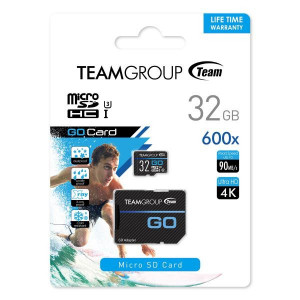Teamgroup GO 32GB Micro SDHC/SDXC UHS-I U3 90MB/s spominska kartica