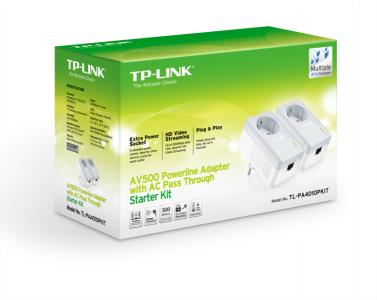 TP-LINK TL-PA4010P KIT AV500 Powerline Adapter z vtičnico