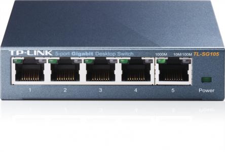 TP-LINK TL-SG105 5-portni Gigabit switch, podpira IGMP snooping funkcijo