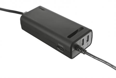 Trust 20877 Duo 70W napajalnik za prenosnik z 2 USB vhodoma
