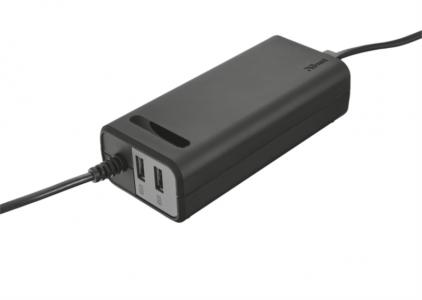 Trust 20878 Duo 90W napajalnik za prenosnik z 2 USB vhodoma