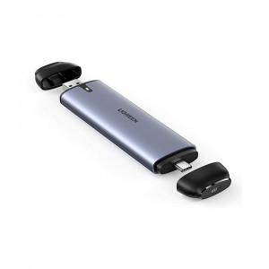 Ugreen USB-C in USB-A ohišje za M.2 SATA SSD B-Key