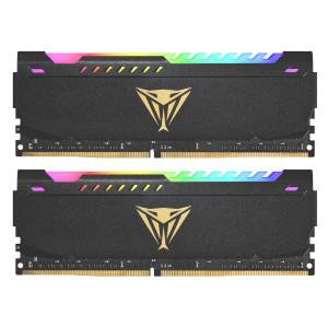 Patriot Viper Steel RGB Kit 16GB (2x8GB) DDR4-3200 DIMM PC4-25600 CL18, 1.35V