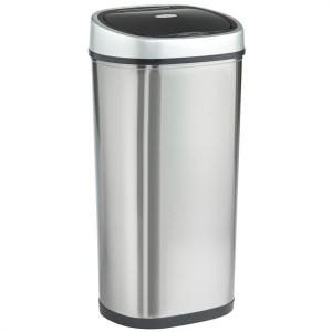 VonHaus koš za smeti 50L srebrn - z avtomatičnim odpiranjem in zapiranjem