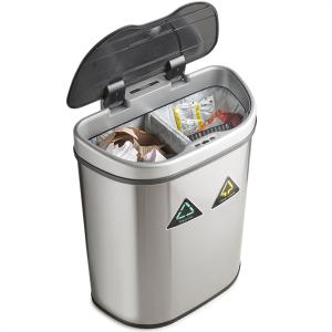 VonHaus koš za ločevanje smeti 70L - z avtomatičnim odpiranjem in zapiranjem