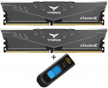 Teamgroup Vulcan Z 16GB Kit (2x8GB) DDR4-3200 DIMM PC4-25600 CL16, 1.35V + 16GB C145 USB 3.0 ključek - Promocija