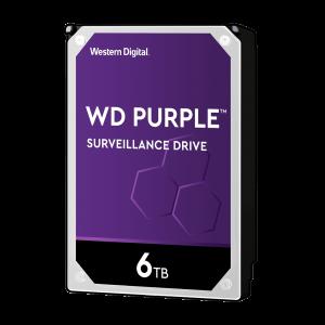 WD PURPLE 6TB SATA3, 6Gb/s, 5400, 64MB