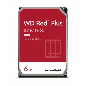 WD trdi disk 6TB SATA3, 6Gb/s, 5640obr, 128MB RED PLUS