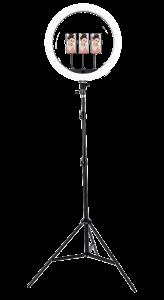 VIDLOK Komplet LED Ring svetlobni obroč s stojalom 45 cm