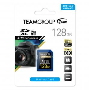 Teamgroup Xtreem 128GB SD UHS-II U30 250MB/s spominska kartica