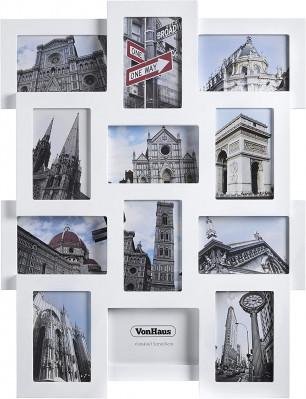 VonHaus foto okvir za 12 slik 10x15cm bel