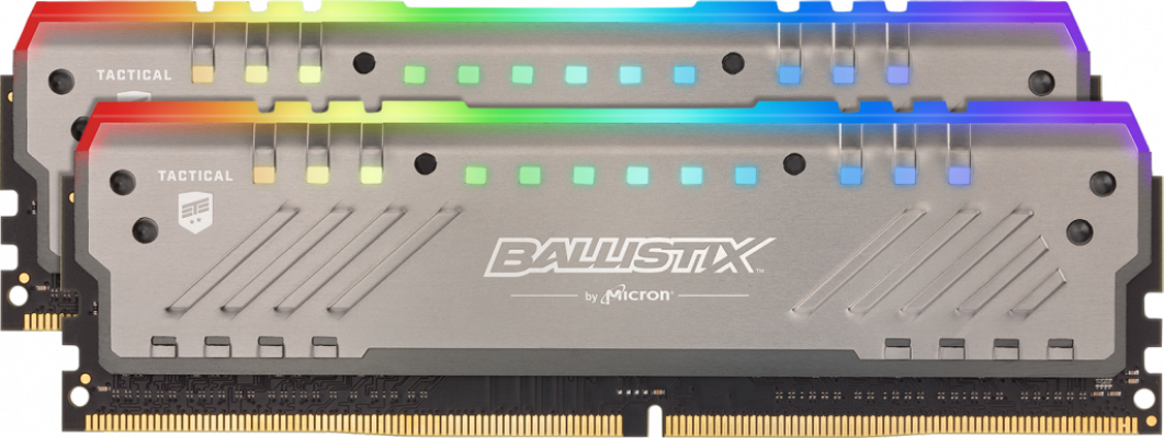 Crucial Ballistix Tactical Tracer RGB 16GB Kit (2x8GB) DDR4-3000 UDIMM PC4-24000 CL15, 1.35V