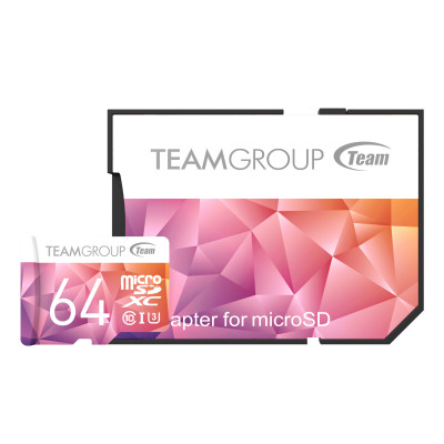 Teamgroup Color Card II 64GB MicroSDHC/SDXC UHS-I U3 90MB/s spominska kartica