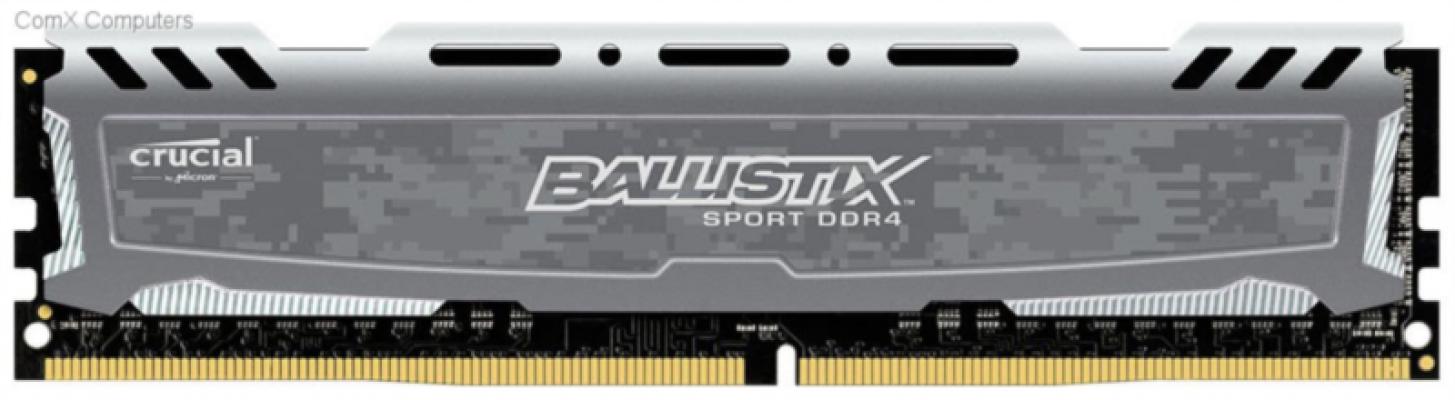 Crucial Ballistix Sport LT Gray 4GB DDR4-2400 UDIMM PC4-19200 CL16, 1.2V