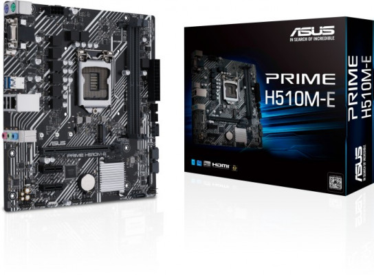 ASUS PRIME H510M-E, DDR4, SATA3, DP, USB3.2Gen1, LGA1200 mATX