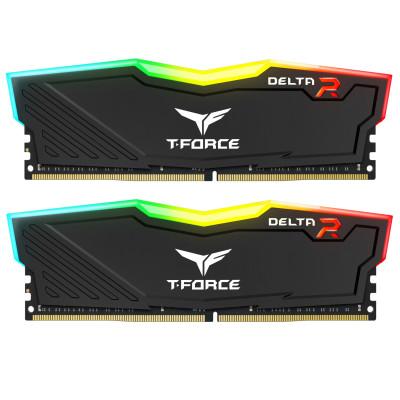 Teamgroup Delta RGB 64GB Kit (2x32GB) DDR4-3000 DIMM PC4-24000 CL16, 1.35V