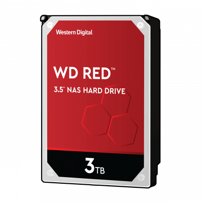 WD trdi disk 3TB SATA3, 6Gb/s, 5400obratov, 256MB RED