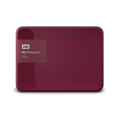 WD My Passport Ultra 500GB USB 3.0, rdeč