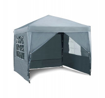 VonHaus Pop Up Pavilion 2.5m x 2.5m Slate Gray with weights