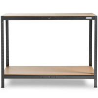 Vonhaus 1.2m screwless workbench and shelf rack HAMMERITE