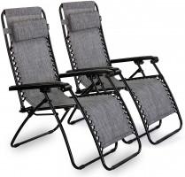 VonHaus set of 2 Zero Gravity recliners