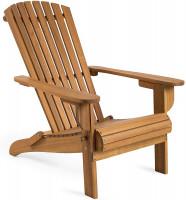 VonHaus folding wooden garden chair