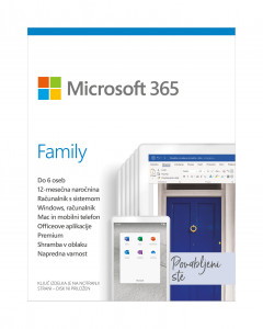 Microsoft 365 Family Mac / Win - Slovenian - 1 year subscription