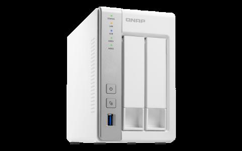 QNAP TS-231P2-1G NAS server for 2 disks