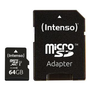 Intenso 64GB microSDXC UHS-I Class 10 Premium spominska kartica