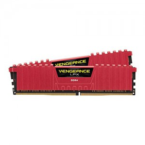 Corsair Vengeance LPX 16GB (2x8GB) 288-Pin DDR4 3200 (PC4 25600) spominski moduli rdeči