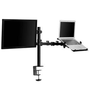 VonHaus dvojni namizni nosilec za monitor in prenosnik
