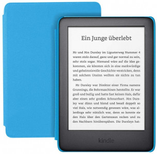Amazon Kindle Kids Edition, 8 GB, WiFi, e-bralnik, moder