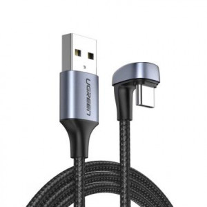 UGREEN USB-A 2.0 to USB-C corner cable 1m