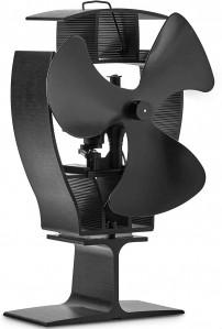 VonHaus ventilator za kamin z oscilacijo črn aluminij