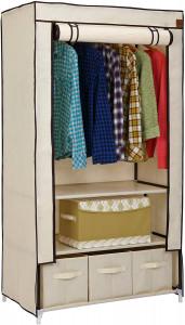 VonHaus prenosna garderobna omara s predali, bež