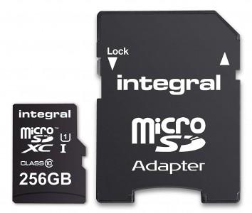INTEGRAL 256GB SMARTPHONE & TABLET MICRO SDXC class10 UHS-I U1 90MB/s SPOMINSKA KARTICA+ SD ADAPTER