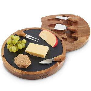 VonShef acacia / slate cutting board