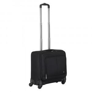 RivaCase črn potovalni Carry-On kovček na koleščkih 8481