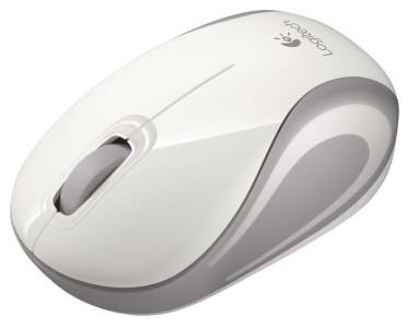 Logitech M187 Wireless mini miška, bela