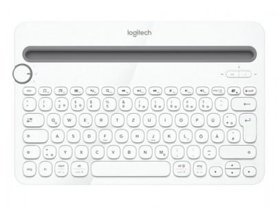 Tipkovnica Logitech Cordless K480 Wireless Bluetooth SLO gravura bela (pametni telefon, tablica)