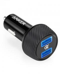 Anker PowerDrive Speed 2 39W QC 3.0 avto polnilec črn