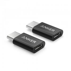 Anker USB-C to Micro USB adapter črn 2 kos
